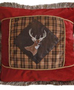 Plaid Buck Pillow