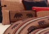 Bayfield Oblong Houndstooth and Bear Pillow