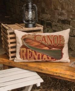 Lodge Hollow Canoe Rental Pillow