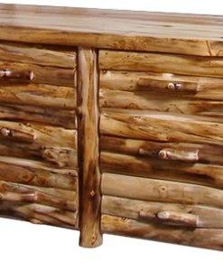 Log front six drawer dresser