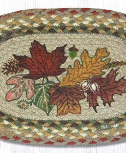 """Autumn Leaves 10"""" x 15"""" Oval Braided Swatch"""