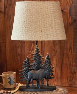 Black Moose Lamp