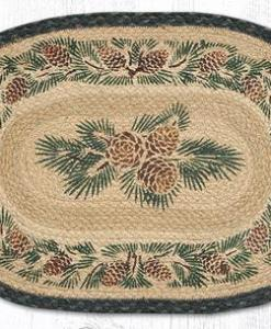 """Pinecone 13"""" x 19"""" Braided Placemat"""