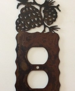 Pine Cone Single Outlet Switch Plate Cover