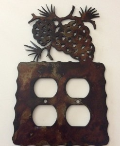 Pine Cone Double Outlet Switch Plate Cover