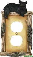 Bear On Limb Single Outlet Cover