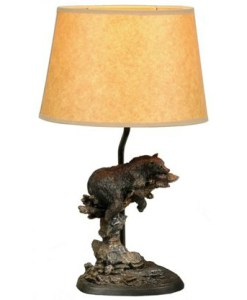 Resting Bear Lamp