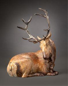 """Summit"" Bronze Elk Sculpture by Joshua Tobey"