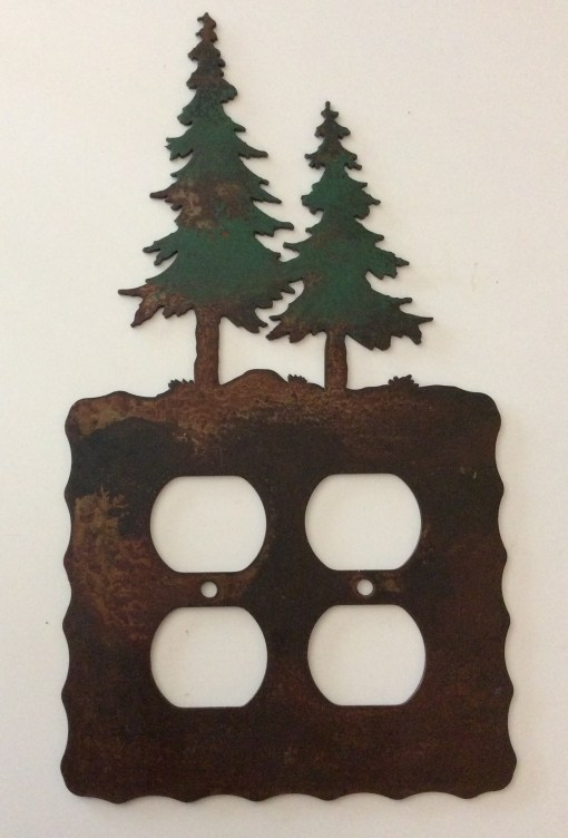 Pine Tree Double Outlet Switch Plate Cover