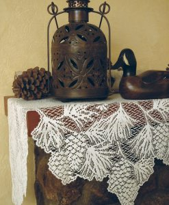 Woodland Lace Mantle Scarf
