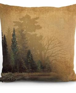 Misty Forest II Decorative Pillow