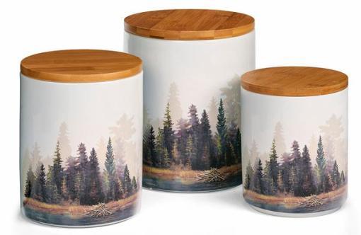 Misty Forest Canister Set - 3 pcs