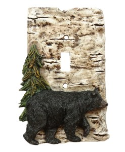 Bear and Tree Single Switch Plate Cover