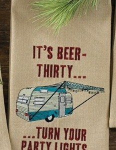 It's Beer Thirty Embroidered Dishtowel