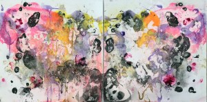Bloom 1, 2018 Ink and Acrylic on canvas, 60x120cm