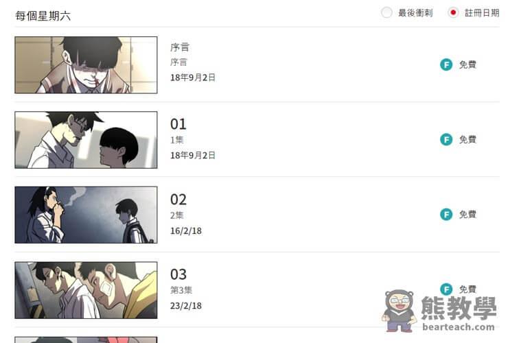 韓國漫畫(2020必收藏網站),8個PTT推薦的線上免費看Webtoon - 熊阿貝教學