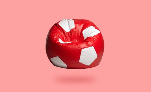 red white football beanbag 1