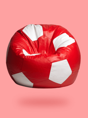 red white football beanbag 1