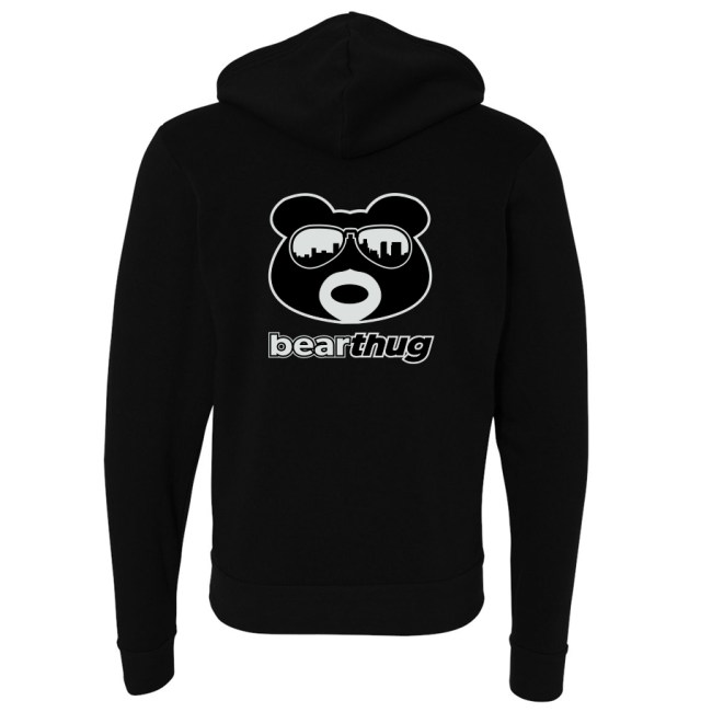 BearThug Logo Zip-Up Hoodie (back)