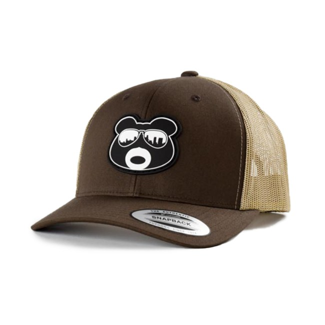 BearThug Snapback Ball Caps - Brown/Khaki Mesh (PVC Patch)