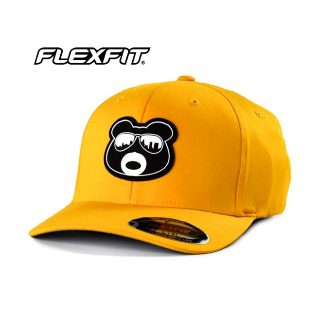 BearThug Flexfit Ball Caps - Gold (PVC Patch)