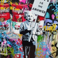 Love is the answer - Einstein & Andy Warhol
