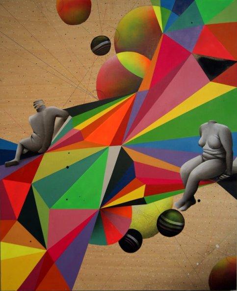 OKUDART - A genius of Multicolor Geometric Art - be artist be art