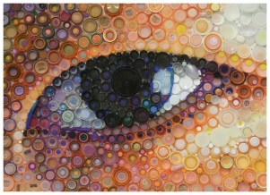 """Bottled Eyes"" by Mary Ellen Croteau - UPCYCLE - Be artist Be art Magazine"