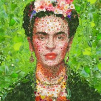 Flowerful #Frida Khalo - by Charis Tsevis