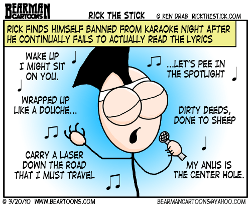 Rick the Stick Guest Cartoon