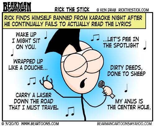 Rick the Stick Guest Cartoon