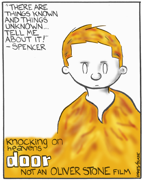 Knocking on Heavens Door Spoof Poster of the Doors Movie for beartoons.com