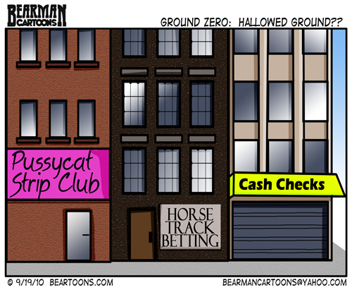 Strip Club at Ground Zero Cartoon