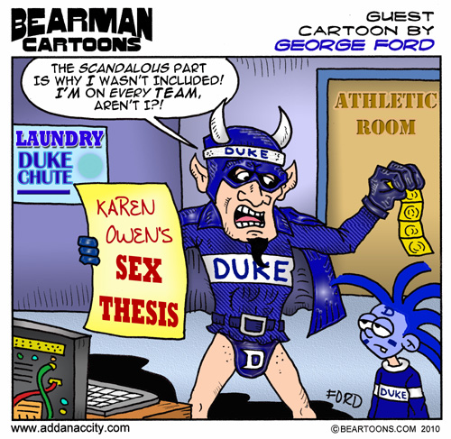 Editorial Cartoon: Duke University Karen Owen Powerpoint