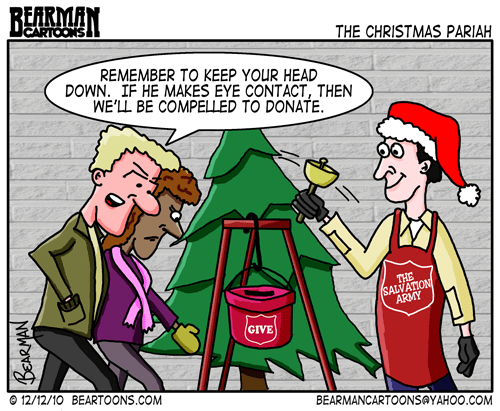 Editorial Cartoon: Salvation Army - The Christmas Pariah