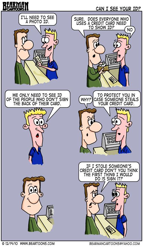 Editorial Cartoon: Credit Card Identification