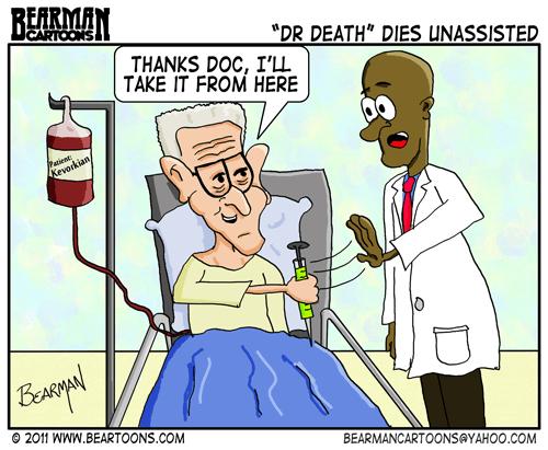 Editorial Cartoon: Jack Kevorkian