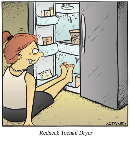 Redneck Toenail Dryer