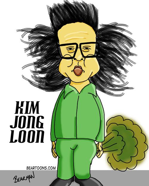 Kim Jong Il Friggin Loon Mashup Caricature