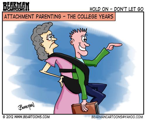 Editorial Cartoon: Attachment Parenting