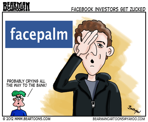 Editorial-Cartoon Mark Zuckerberg Facebook Facepalm