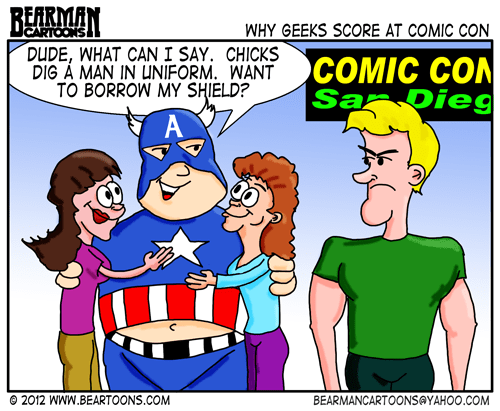 Editorial Cartoons: Cartoon Comic Convention Geeks and Girls
