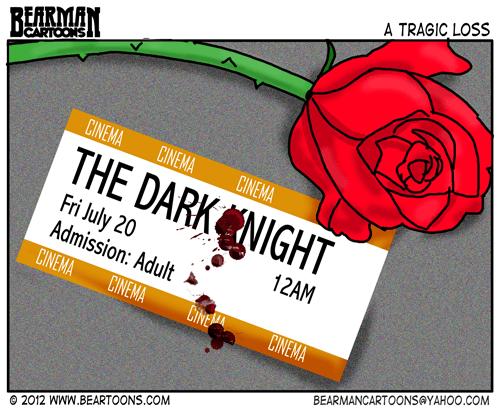 Editorial Cartoon Dark Knight Shootings
