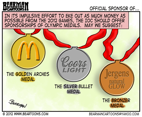 Editorial Cartoon Olympic Sponsorships