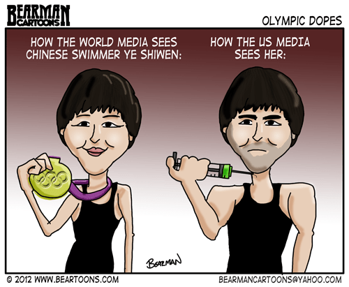 Editorial Cartoon Ye Shiwen Olympic Swimmer Doping