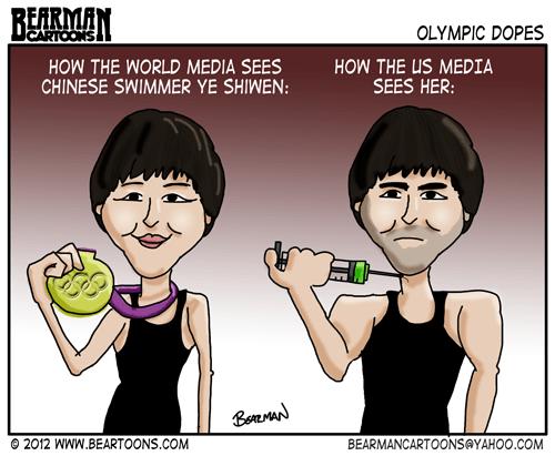Editorial Cartoon Ye Shiwen Olympic Swimmer Doping
