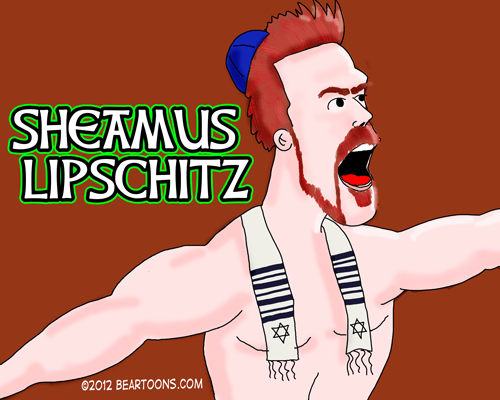 Sheamus Lipschitz Sign WWE Wrestler by Bearman Cartoons
