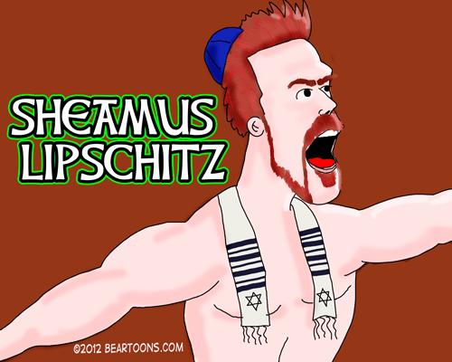 Sheamus Lipschitz Sign WWE Wrestler by Bearman Cartoons