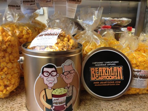 Pattys Popcorn Giveaway Bearman cartoons