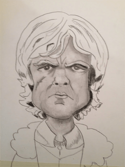 Bearman-Cartoons-Tyrion-Lannister Pencil